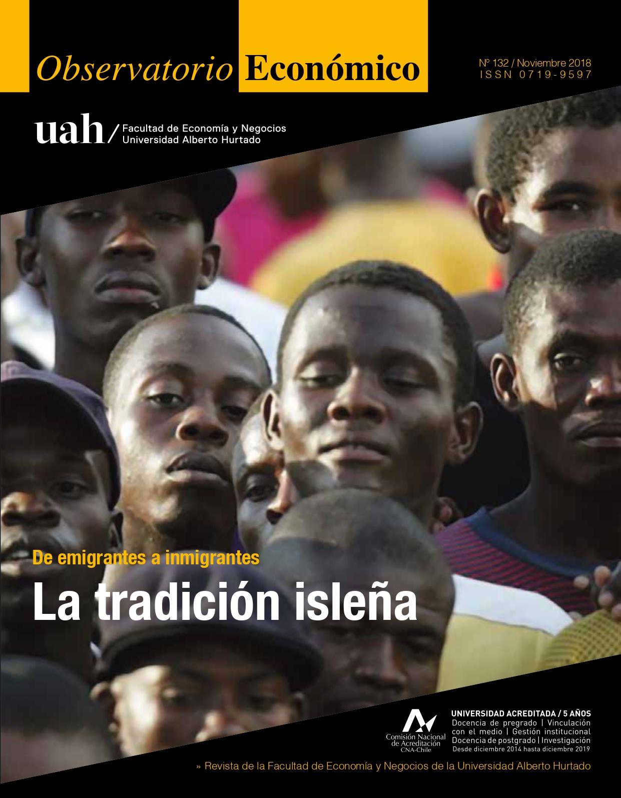 """Título del número de la revista : """"De emigrantes a inmigrantes : La tradición isleña"""""""