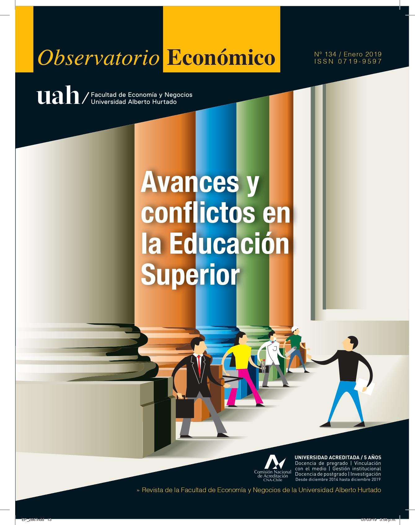 """Título del número de la revista : """"Avances y conflictos en la Educación Superior"""""""
