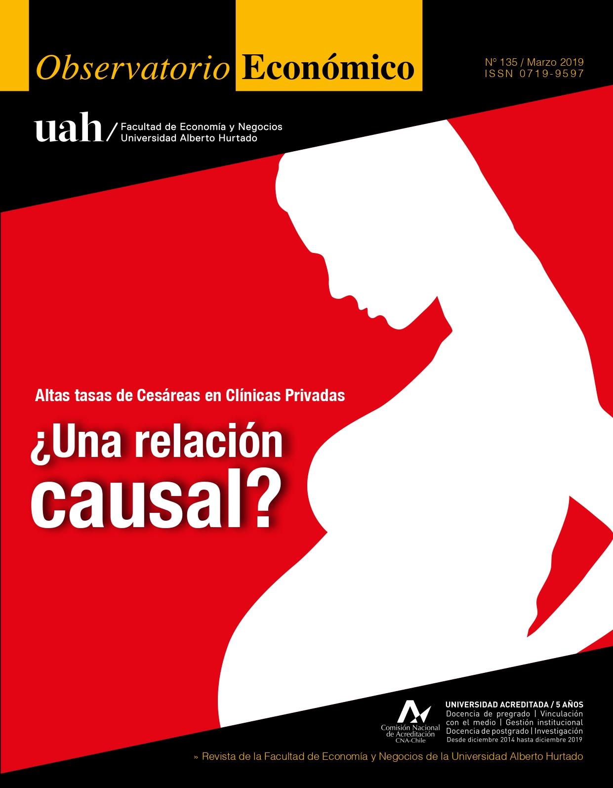 """Título del número de la revista : """"Altas tasas de Ce´sareas en Clínicas Privadas : ¿Una relación causal?"""""""
