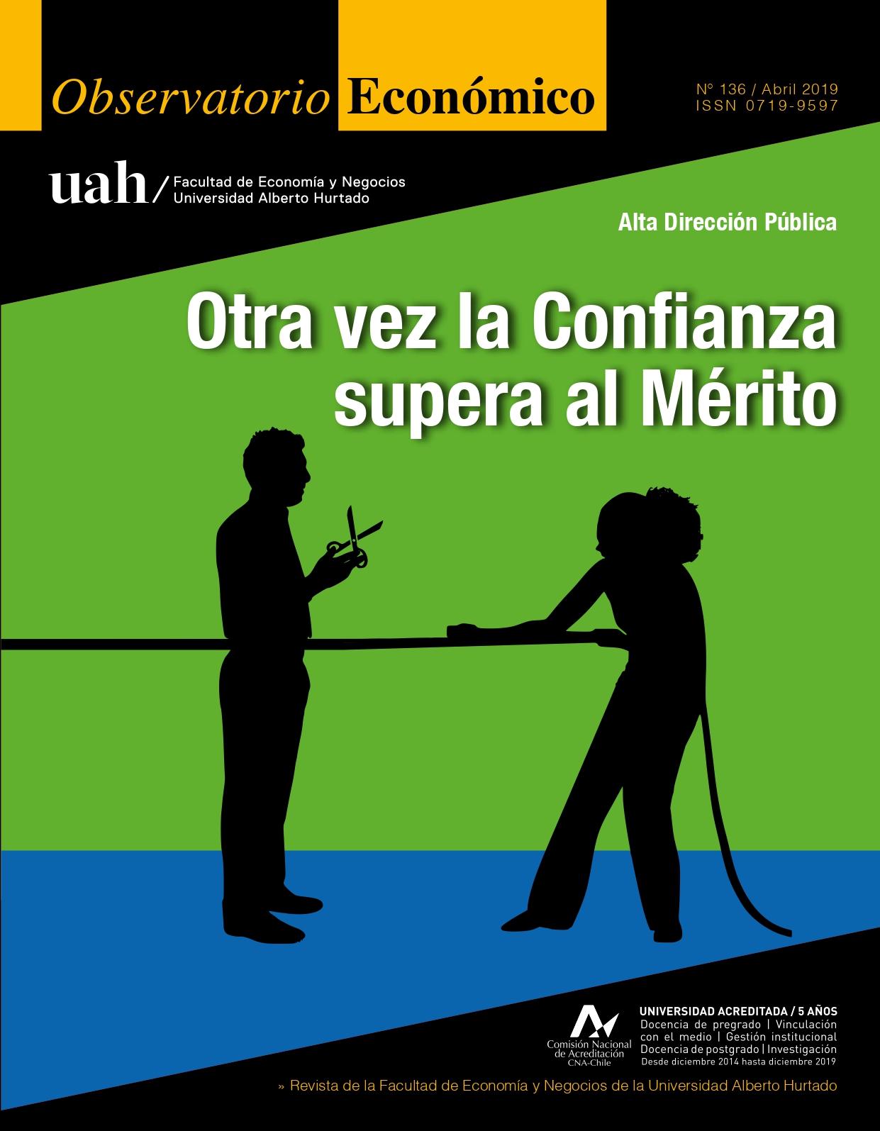 """Título del número de la revista : """"Alta Dirección Pública : Otra vez la Confianza supera al Mérito"""""""