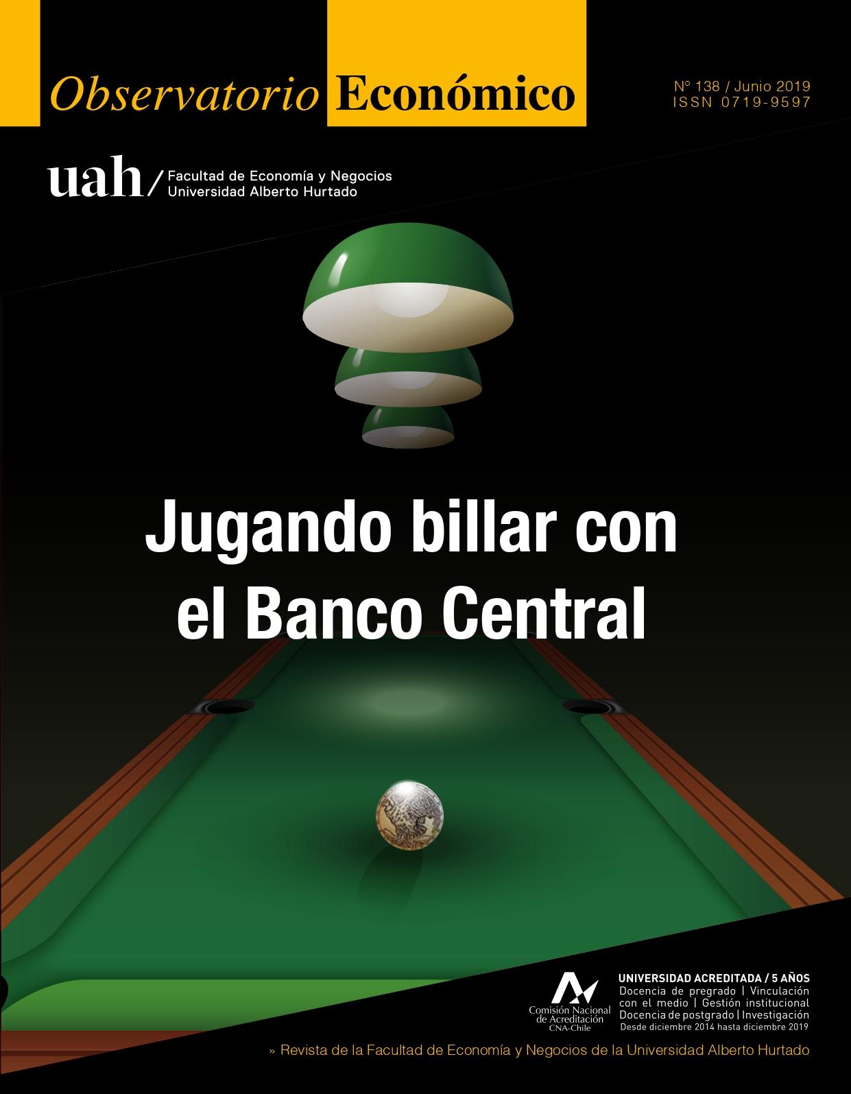 """Título del número de la revista : """"Jugando billar con el Banco Central"""""""