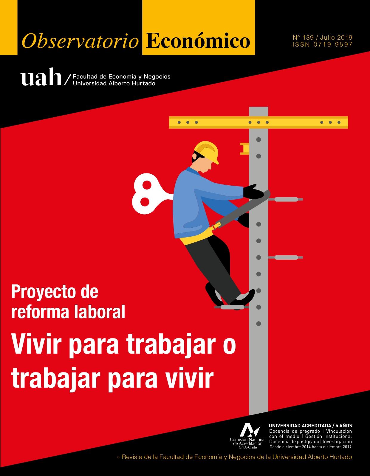 """Título del número de la revista : """"Proyecto de reforma laboral : Vivir para trabajar o trabajar para vivir"""""""