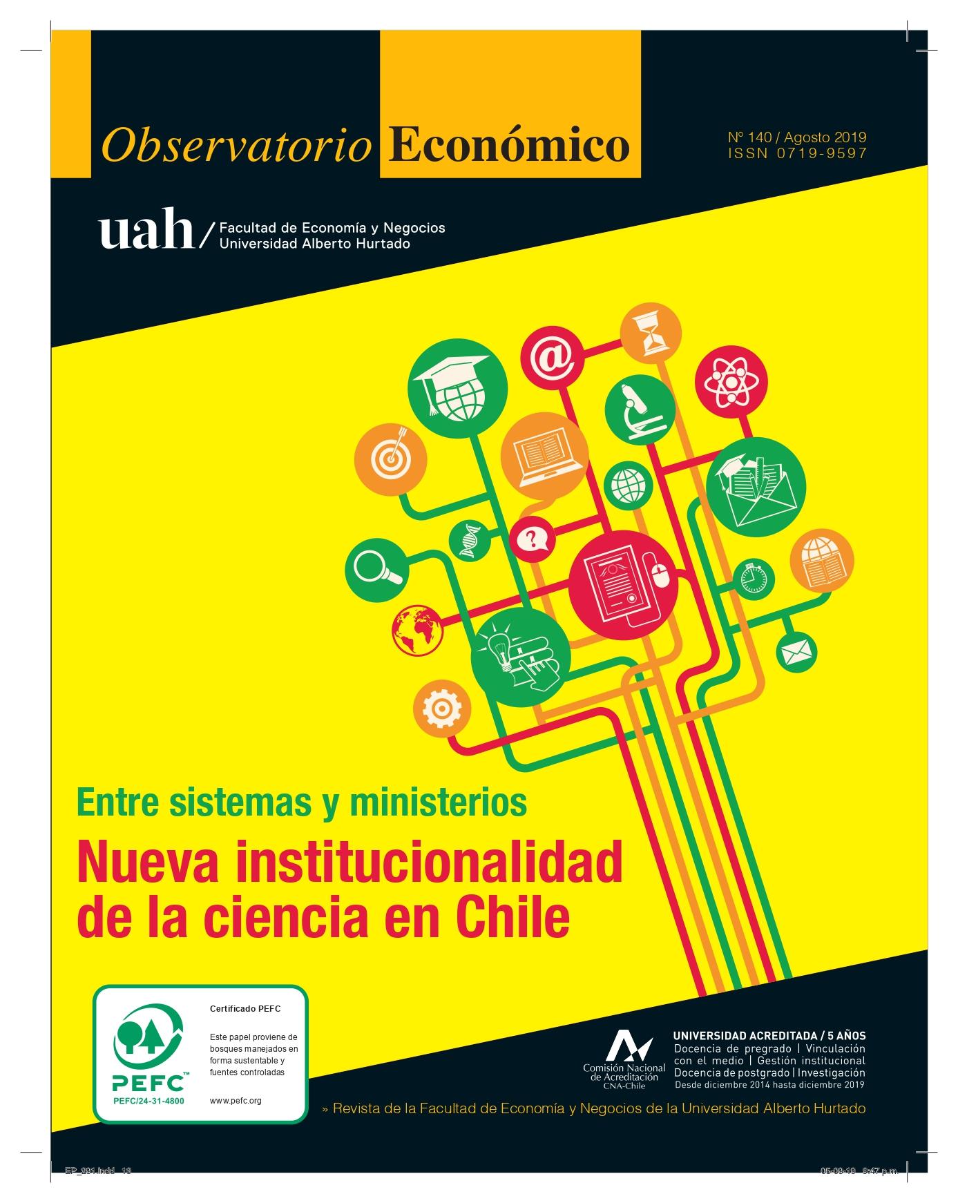 """Título del número de la revista : """"Entre sistemas y ministerios : Nueva institucionalidad de la ciencia en Chile"""""""