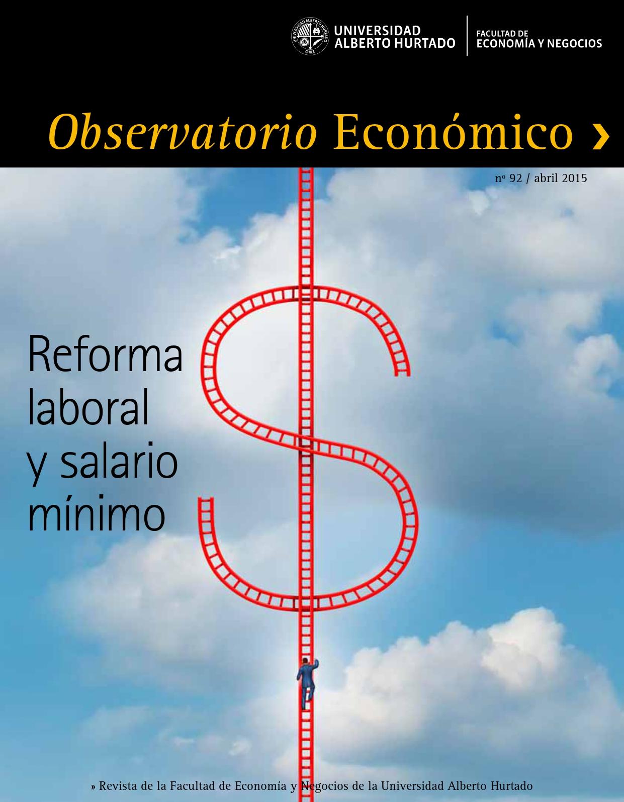 """Título del número de la revista : """"Reforma laboral y salario mínimo"""""""