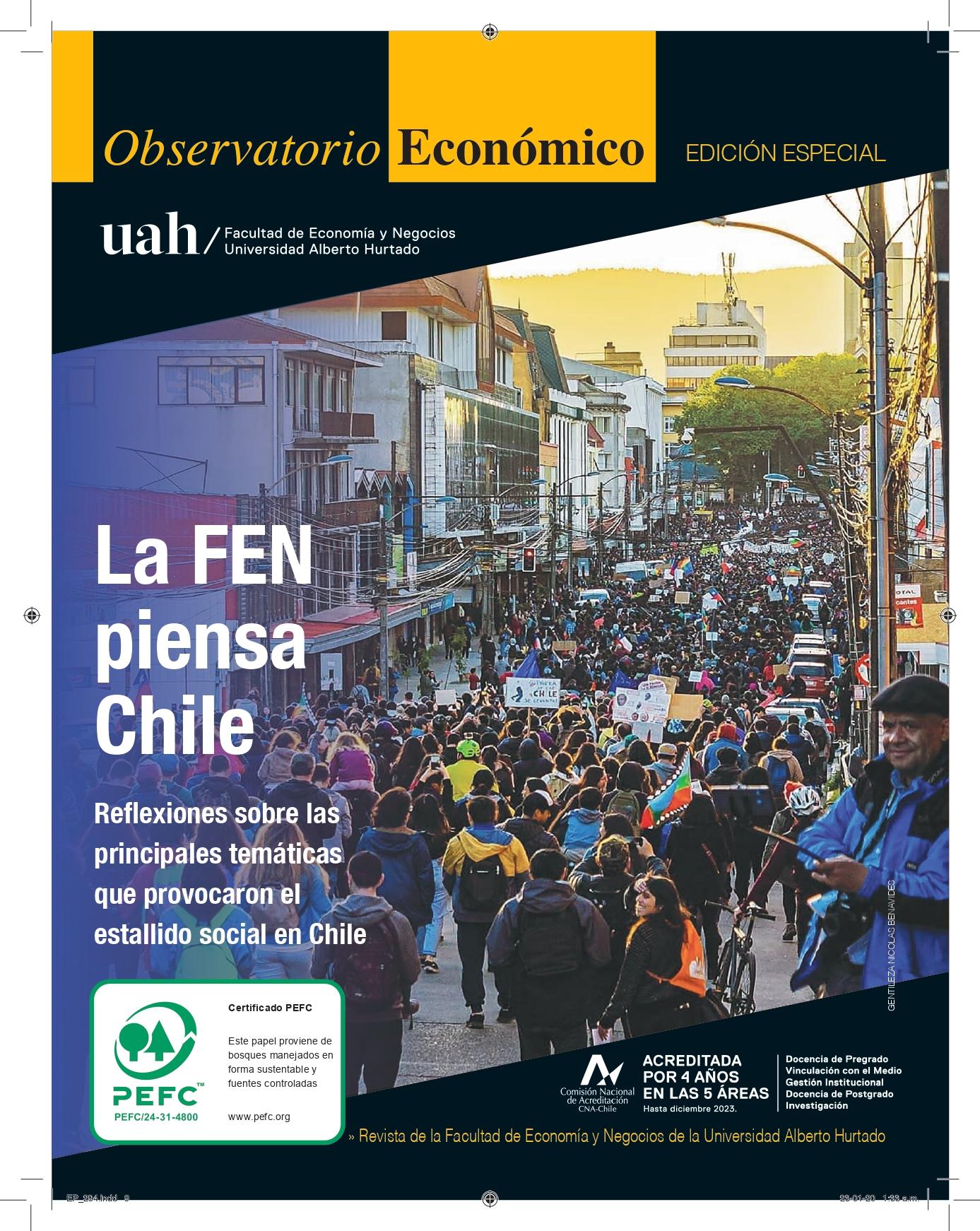 """Título del número de la revista : """"La FEN piensa Chile : Reflexiones sobre las principales temáticas que provocaron el estallido social en Chile"""""""