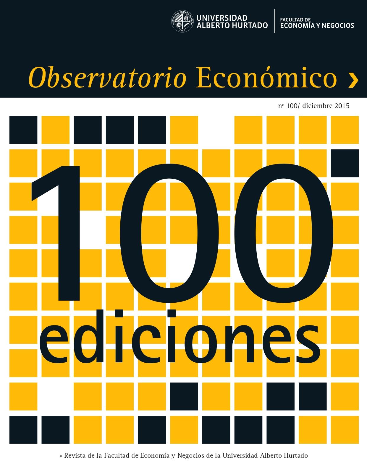 """Título del número de la revista : """"100 ediciones"""""""