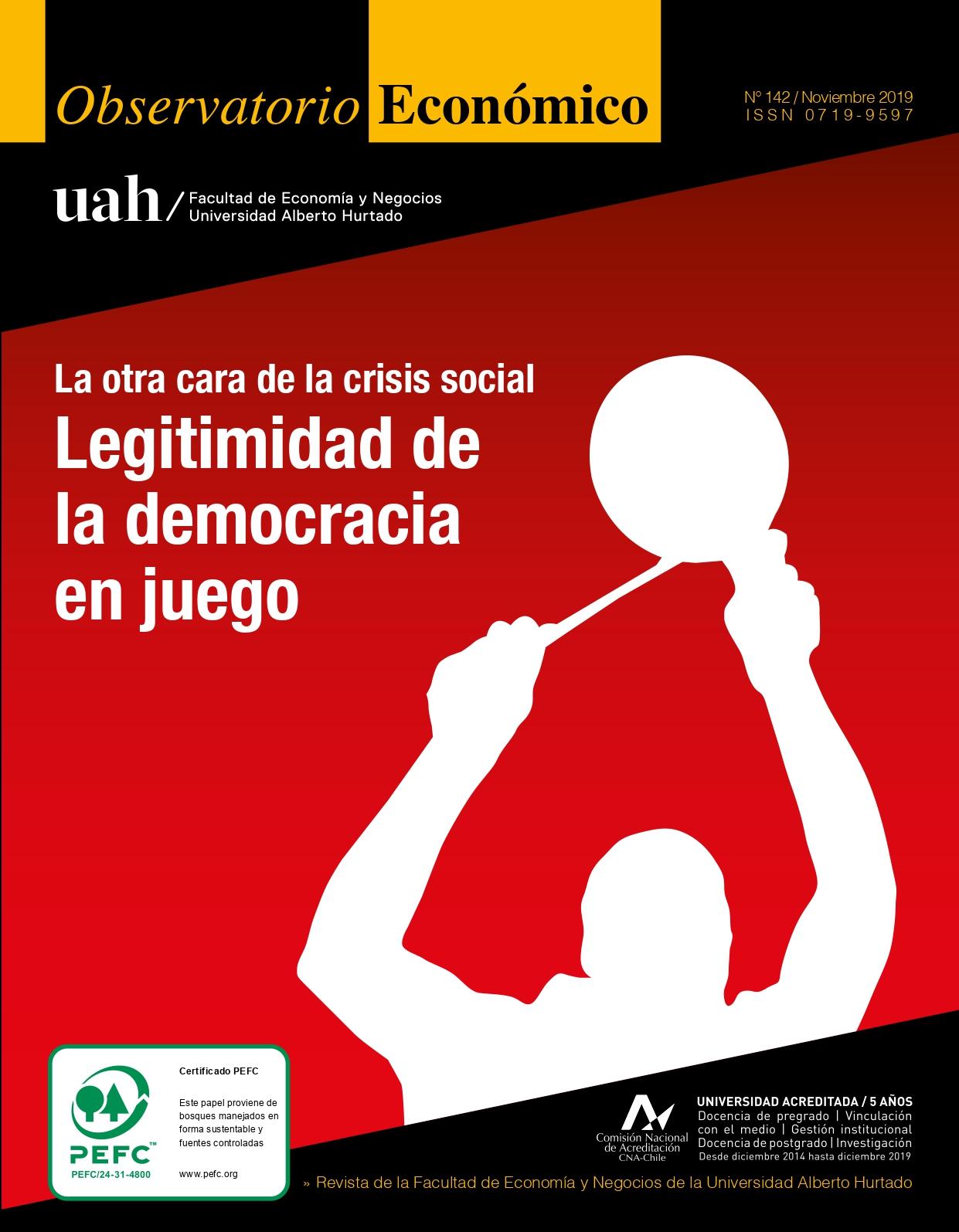"""Título del número de la revista : """"La otra cara de la crisis social : Legitimidad de la democracia en juego"""""""