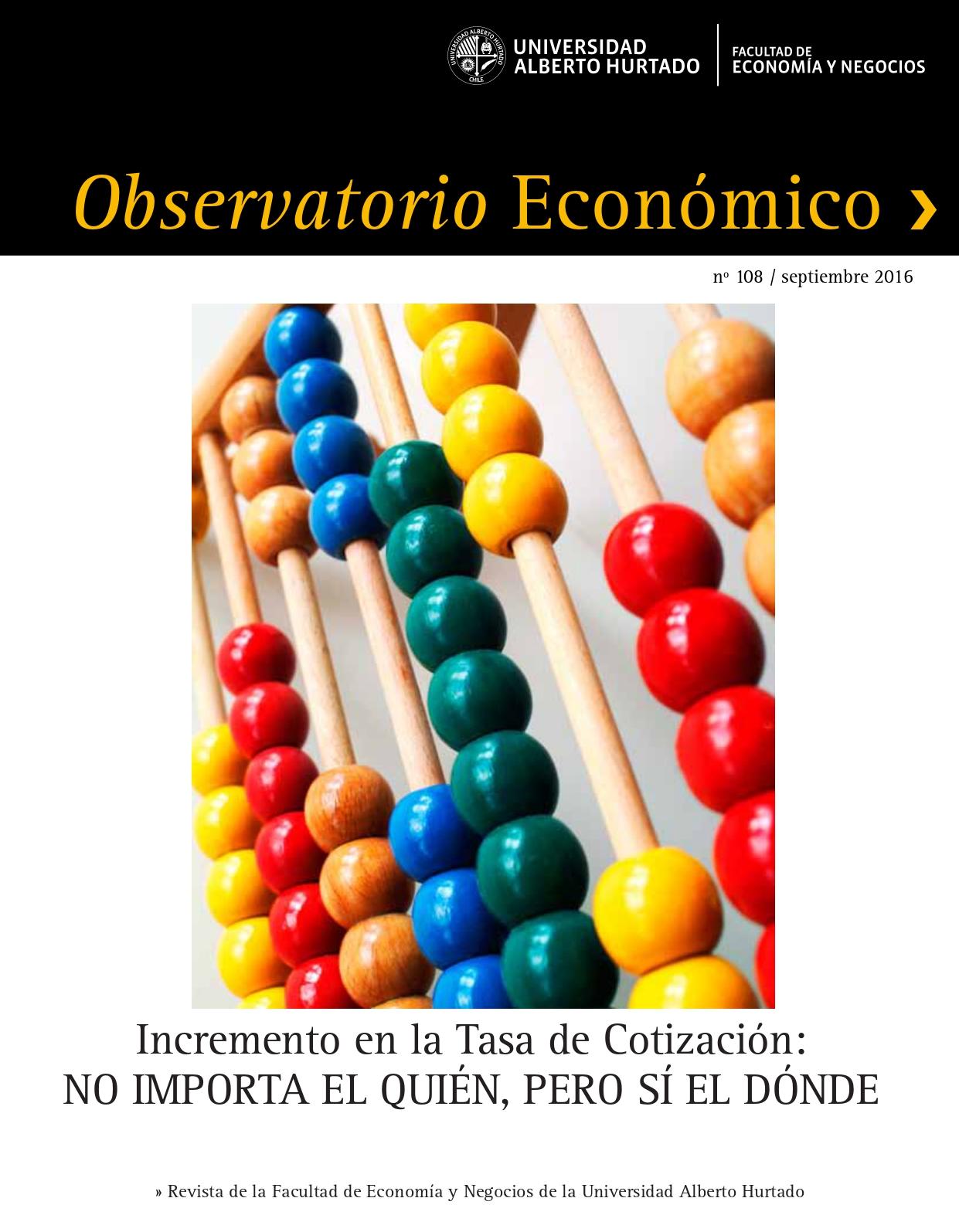 """Título del número de la revista : """"Incremento en la Tasa de Cotización : No importa el quién, pero sí el dónde"""""""