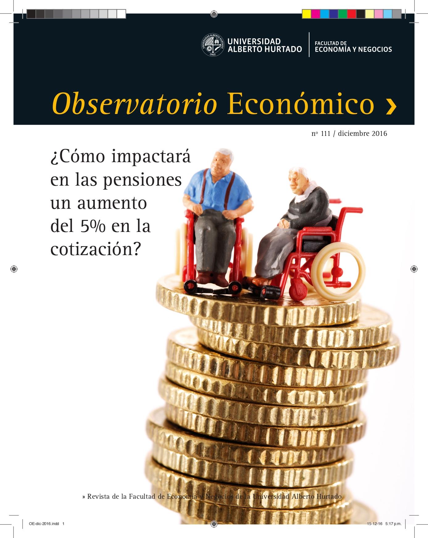 """Título del número de la revista : """"¿Cómo impactará en las pensiones un aumento del 5% de la cotización?"""""""