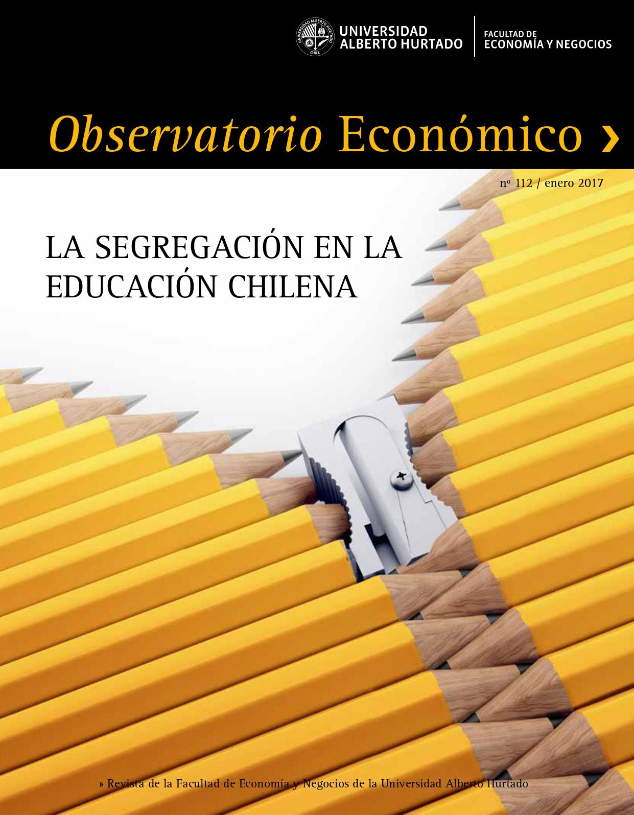 """Título del número de la revista : """"La segregación en la educación chilena"""""""
