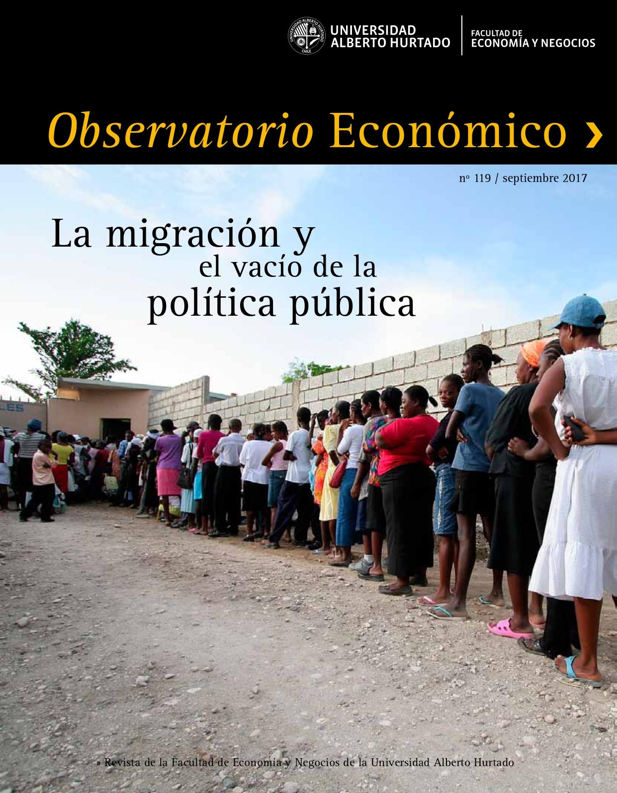 """Título del número de la revista : """"La migración y el vacío de la política pública"""""""